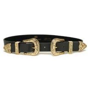 B-Low The Belt Bri Bri Belt in Black Gold